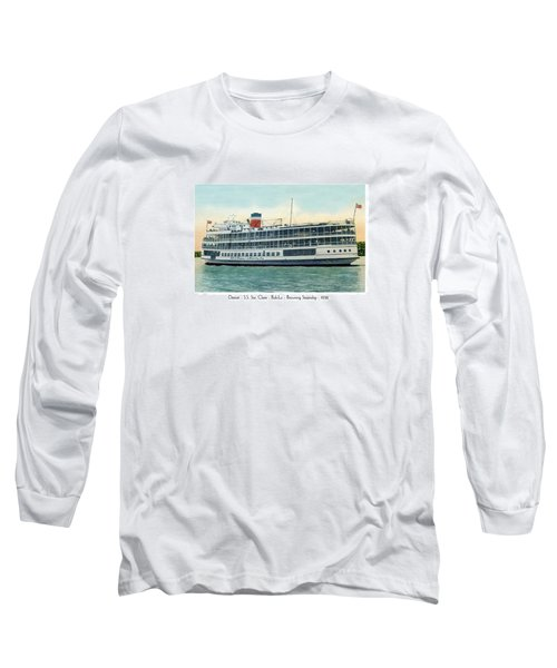 Detroit - Ss Sainte Claire - Boblo - Browning Steamship - 1938 Long Sleeve T-Shirt