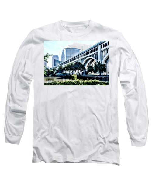 Detroit-superior Bridge - Cleveland Ohio - 1 Long Sleeve T-Shirt