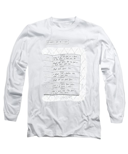 Diary Of A Cat: Long Sleeve T-Shirt