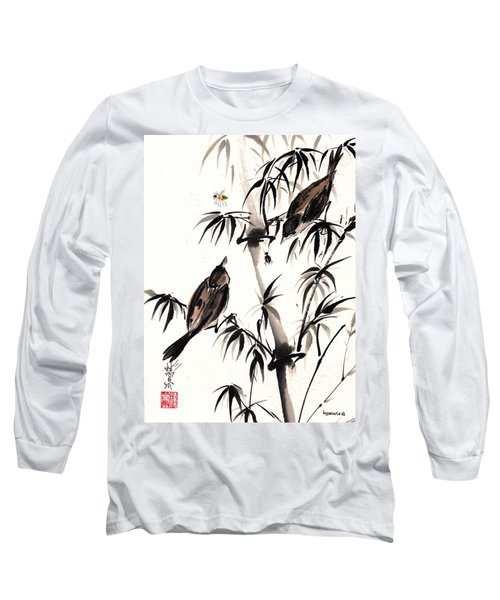 Long Sleeve T-Shirt featuring the painting Dibs by Bill Searle