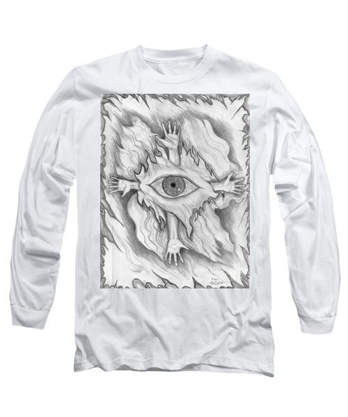 Long Sleeve T-Shirt featuring the drawing Dimension 4 by Roz Abellera Art