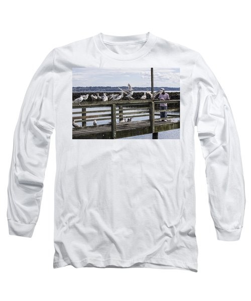 Dinner At The Marina Long Sleeve T-Shirt by Cathy Anderson