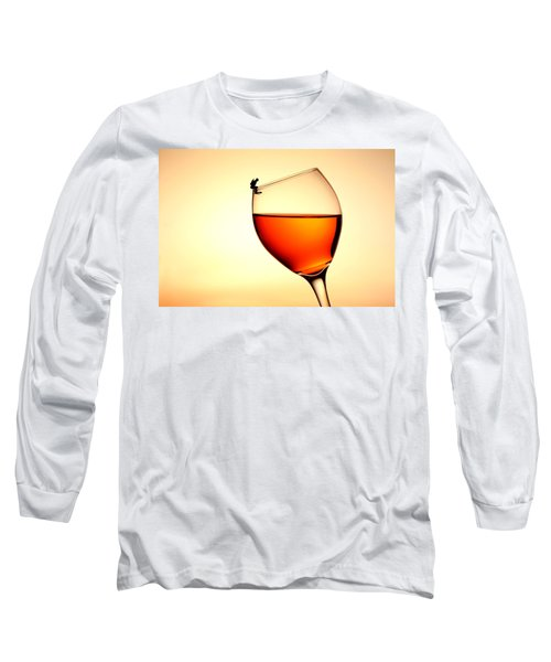 Diving In Red Wine Little People On Food Long Sleeve T-Shirt by Paul Ge
