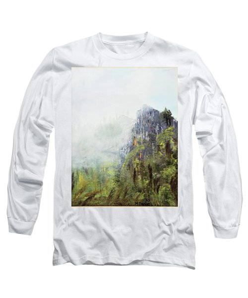 Long Sleeve T-Shirt featuring the painting Dixville Notch Nh by Michael Daniels