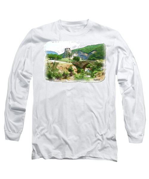 Do-00403 Mussaylaha Fort  Long Sleeve T-Shirt by Digital Oil