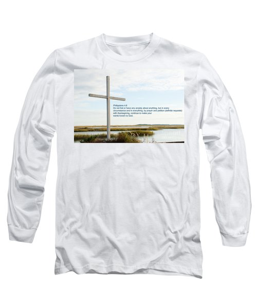 Belin Church Cross At Murrells Inlet With Bible Verse Long Sleeve T-Shirt by Vizual Studio