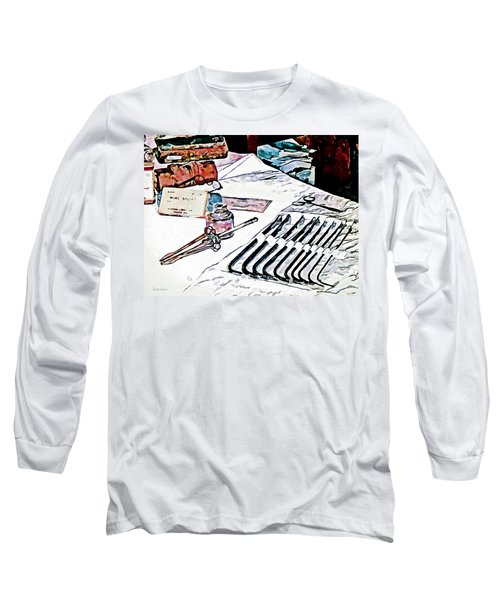 Long Sleeve T-Shirt featuring the photograph Doctor - Medical Instruments by Susan Savad