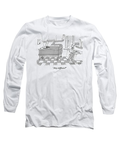 Doctor Sits At His Desk As He Speaks To Patient Long Sleeve T-Shirt
