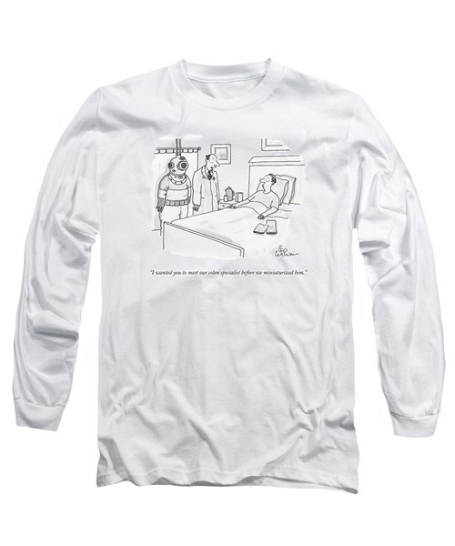 Doctor Speaks To Patient. A Scuba Diver Stands Long Sleeve T-Shirt