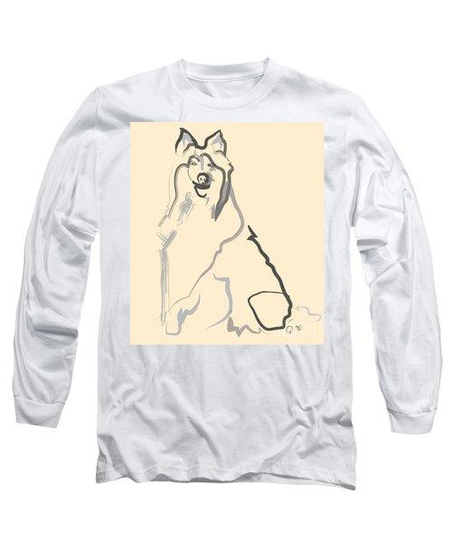 Dog - Lassie Long Sleeve T-Shirt by Go Van Kampen