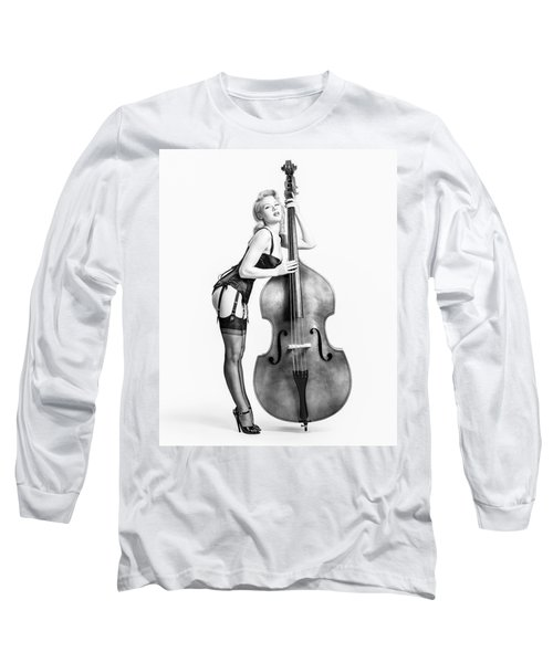 Long Sleeve T-Shirt featuring the photograph Doghouse With Mosh - String Bass Baby   by Gary Heller