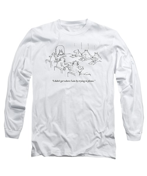 Dogs At A Meeting Long Sleeve T-Shirt