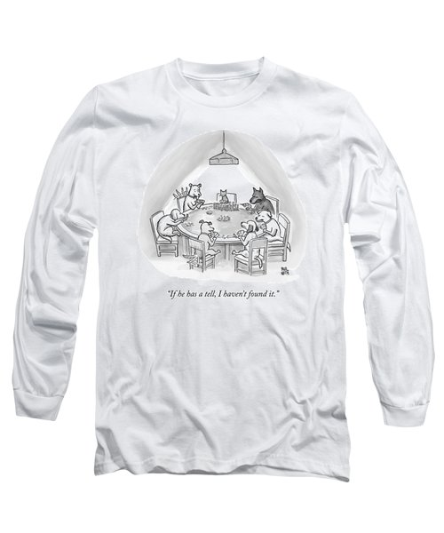 Dogs Playing Poker Refer Angrily To A Cat Who Long Sleeve T-Shirt