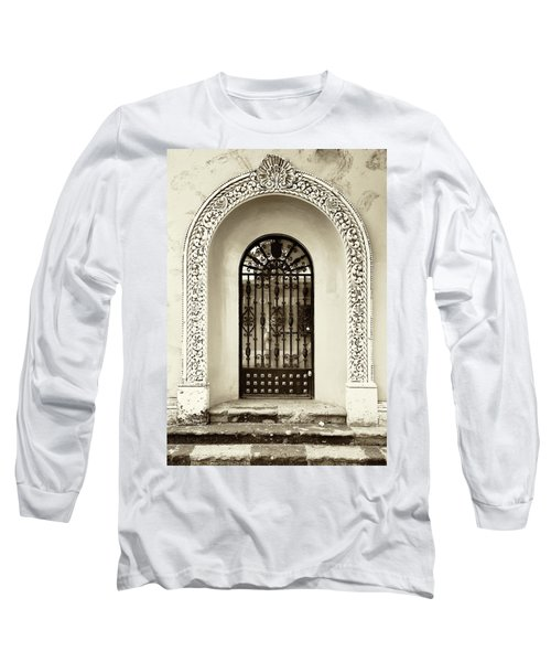 Door With Decorated Arch Long Sleeve T-Shirt