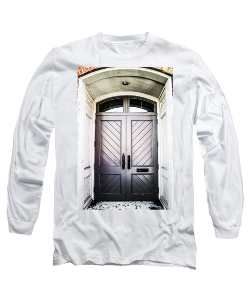 Doorway At Morris Avenue Long Sleeve T-Shirt by Shelby  Young
