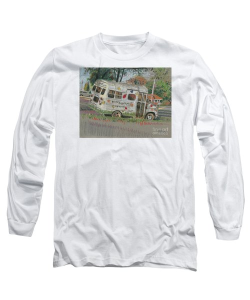 Long Sleeve T-Shirt featuring the painting Doodlebugs Bus by Donald Maier