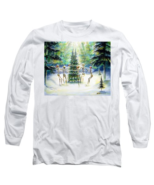 Long Sleeve T-Shirt featuring the painting Dos Arbolitos by Heather Calderon
