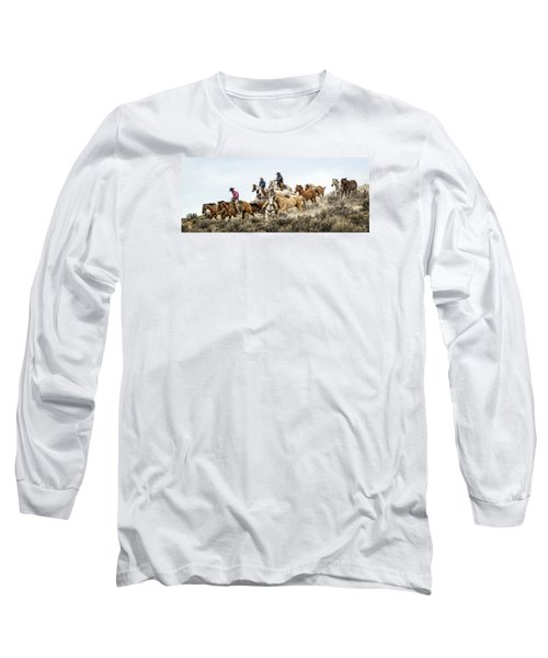 Long Sleeve T-Shirt featuring the photograph Down The Hill by Joan Davis
