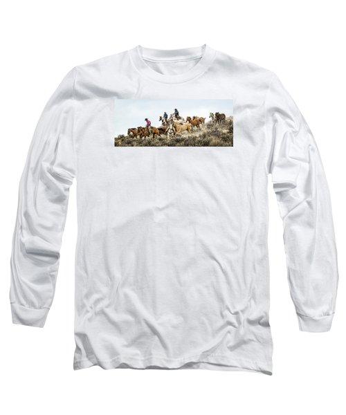 Down The Hill Long Sleeve T-Shirt by Joan Davis