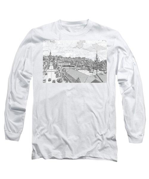 Downtown Port Washington Long Sleeve T-Shirt