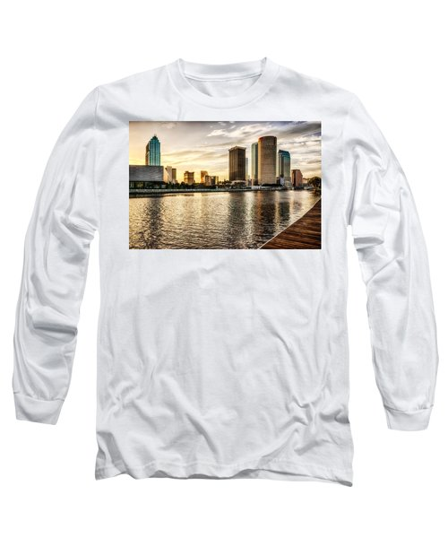 Downtown Tampa At Sunrise Long Sleeve T-Shirt by Michael White