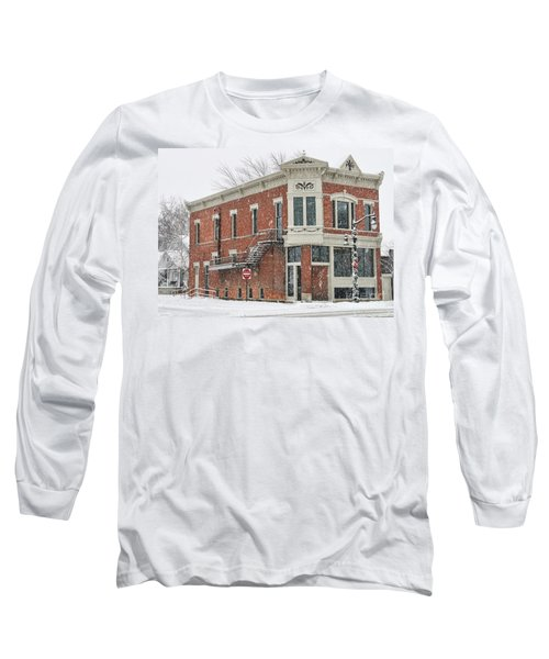 Downtown Whitehouse  7031 Long Sleeve T-Shirt by Jack Schultz