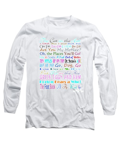 Dr Seuss Books 3 Long Sleeve T-Shirt