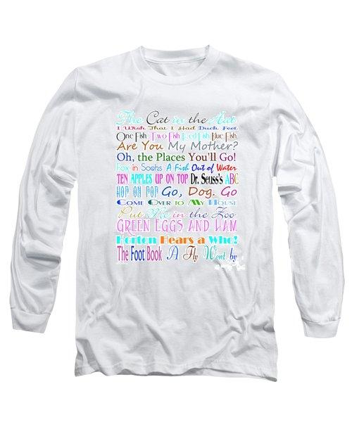Dr Seuss Books 3 Long Sleeve T-Shirt