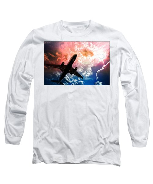 Airplane Long Sleeve T-Shirt featuring the photograph Dream Flight by Aaron Berg