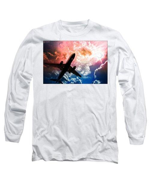 Flight Long Sleeve T-Shirt featuring the photograph Dream Flight by Aaron Berg