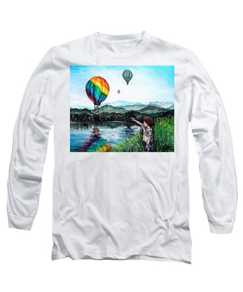 Long Sleeve T-Shirt featuring the painting Dreams Do Come True by Shana Rowe Jackson