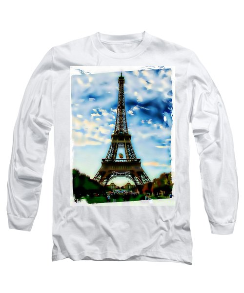 Dreamy Eiffel Tower Long Sleeve T-Shirt
