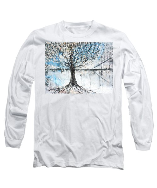 Long Sleeve T-Shirt featuring the painting Dreamy Spring by Evelina Popilian