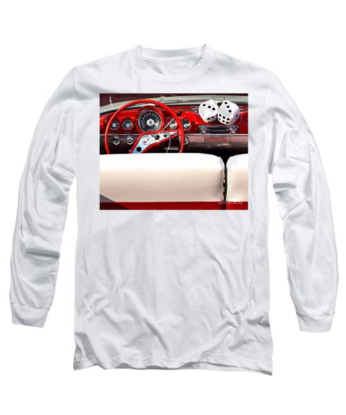 Drive-in Lounge - 1960 Chevy Long Sleeve T-Shirt