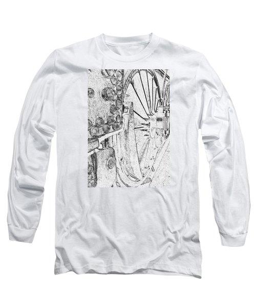 Drive Wheels Dm  Long Sleeve T-Shirt by Daniel Thompson