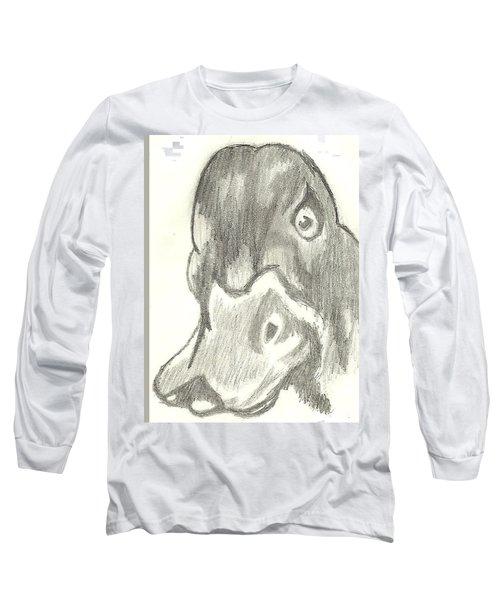 Duck Bill In Pencil Long Sleeve T-Shirt