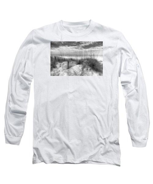 Dune Fences Long Sleeve T-Shirt by Debra and Dave Vanderlaan