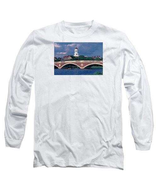 Weeks Bridge Charles River Long Sleeve T-Shirt by Tom Wurl