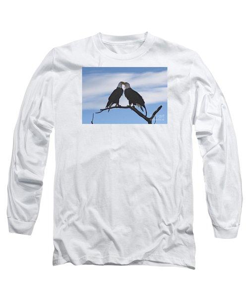 Eagle Love Long Sleeve T-Shirt by Bob Hislop