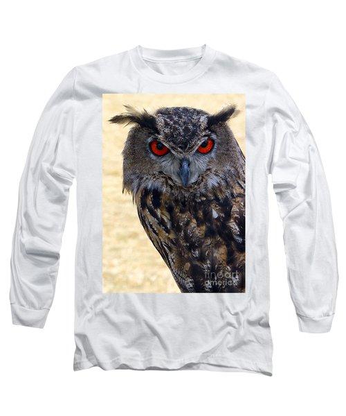 Eagle Owl Long Sleeve T-Shirt by Anthony Sacco