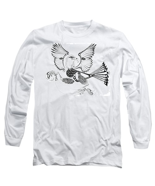 Eagle With A Banner Long Sleeve T-Shirt