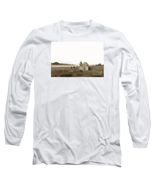 Early Carmel Mission And Point Lobos California Circa 1884 Long Sleeve T-Shirt by California Views Mr Pat Hathaway Archives