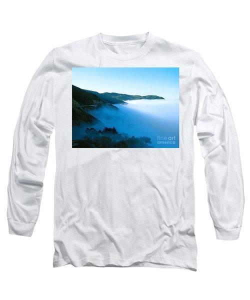 Early Morning Coastline Long Sleeve T-Shirt by Ellen Cotton