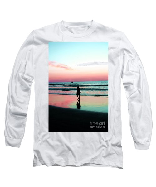 Early Morning Stroll Long Sleeve T-Shirt by Dan Stone