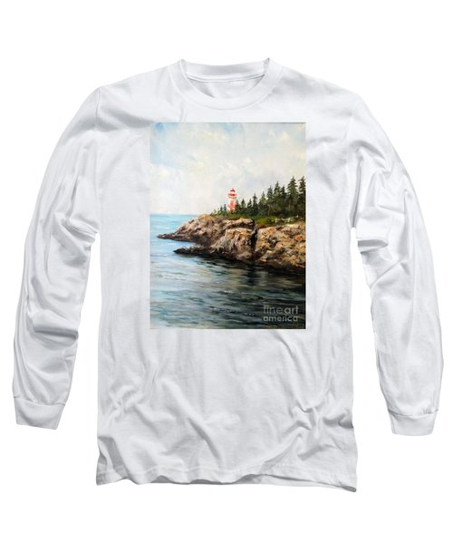 Long Sleeve T-Shirt featuring the painting East Quoddy Head Light by Lee Piper