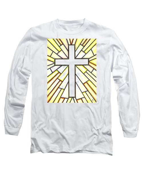 Long Sleeve T-Shirt featuring the painting Easter Cross 3 by Jim Harris