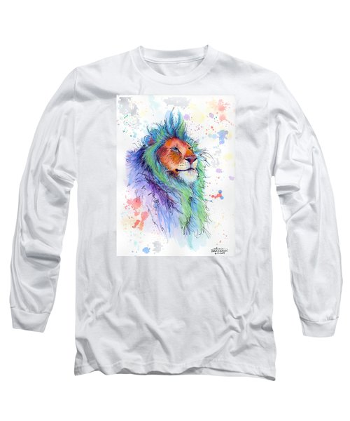 Easter Lion Long Sleeve T-Shirt by Arleana Holtzmann