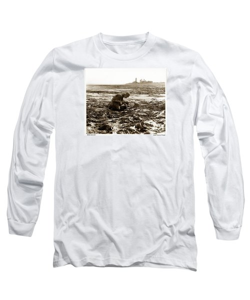 Ed Ricketts At Point Wilson Lighthouse In Port Townsend Wa 1930 Long Sleeve T-Shirt by California Views Mr Pat Hathaway Archives