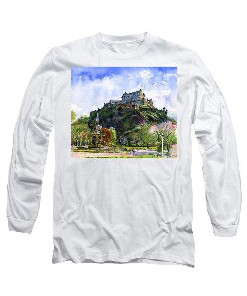Edinburgh Castle Scotland Long Sleeve T-Shirt by John D Benson