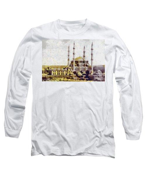 Edirne Turkey Old Town Long Sleeve T-Shirt by Georgi Dimitrov